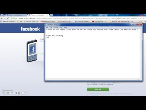 How to Change  Facebook Profile Name After Limit ( 100% working)