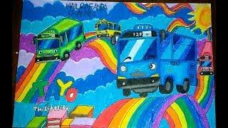 Cara Menggambar Bus Tayo Dari Kata Tayo Tube10xnet