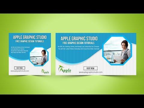 Business Facebook Ads Banner Design - Photoshop CC Tutorial