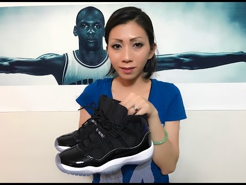 Wife's Jordan Retro 11 Space Jam unbox and on feet review!!
