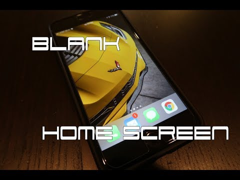 Blank Home Screen On Your iPhone (showcase your wallpaper)