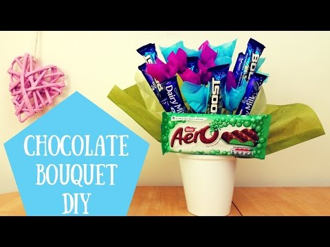 How to make a Chocolate Bouquet at Home with Chocolate Flowers & Chocolate Bars