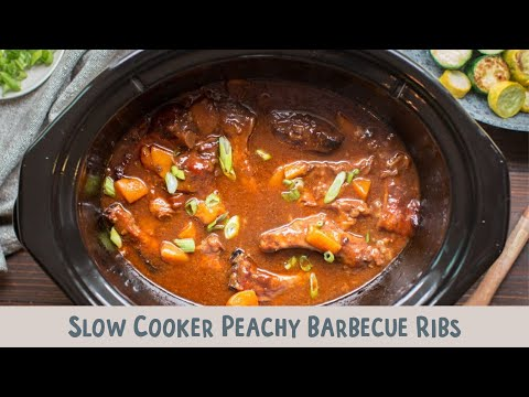 Slow Cooker Peachy Barbecue Ribs