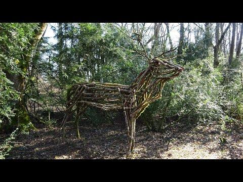 Deer wood sculpture