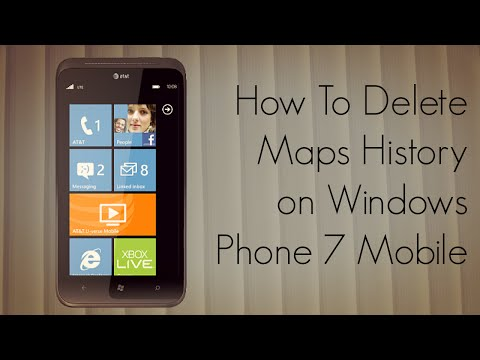 How to Delete Maps History on Windows Phone 7 - PhoneRadar
