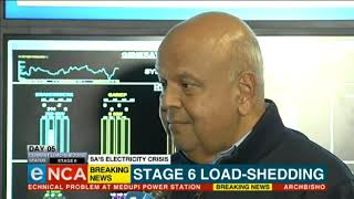 Mabuza and Gordhan respond to stage 6 load-shedding