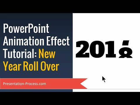 PowerPoint Animation Effect Tutorial (New Year 2018 Rollover)