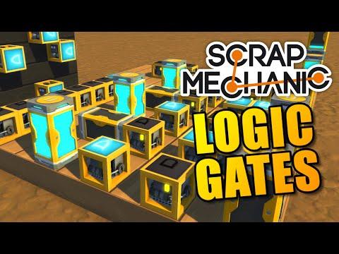 CIRCUITS AND COMPUTERS | Logic Gate Update | Scrap Mechanic Creations #15