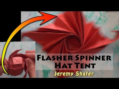 Origami Flasher Spinner Hat Tent
