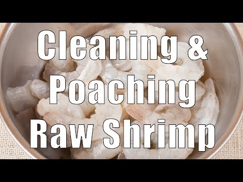 How to Clean and Poach Raw Shrimp (Med Diet Episode 34)