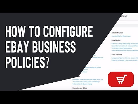 Drop Shipping Tip #2 - How to configure eBay Business Policies