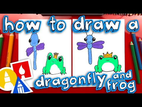 How To Draw A Dragonfly And Frog - Replay Live Stream!