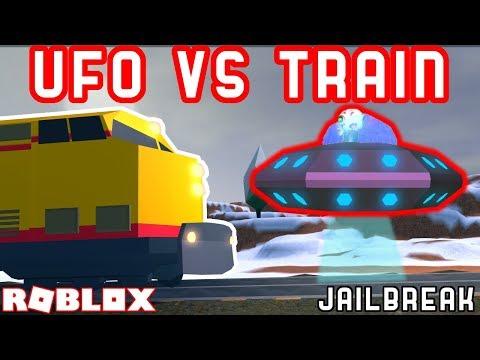 UFO VS THE TRAIN | Roblox Jailbreak Myth busting #11