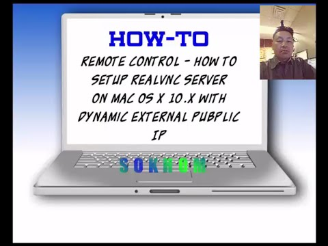 1 of 2 Advanced  RealVNC Server Setup on Mac OS X 10.x  with  Dynamic IP