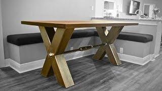 Industrial Farmhouse Table | DIY
