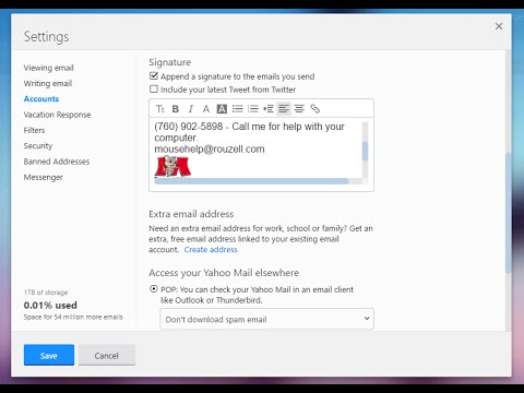 How to add a linked image to your yahoo signature