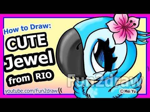 How to Draw A Jewel from Rio - Fun2draw