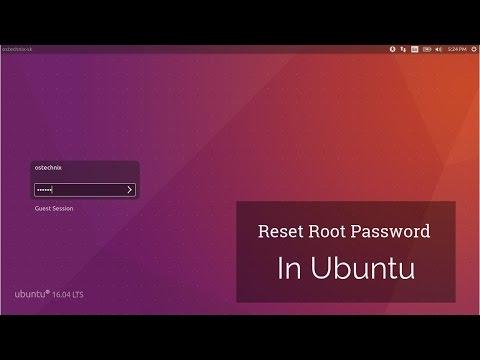 How to Reset Root Password in Ubuntu