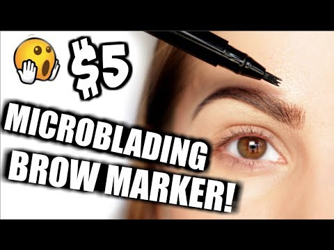 $5 MICROBLADING EYEBROW MARKER! IT WORKS!!