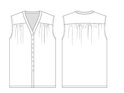 Tutorial Patternmaking-How to make a shoulder yoke