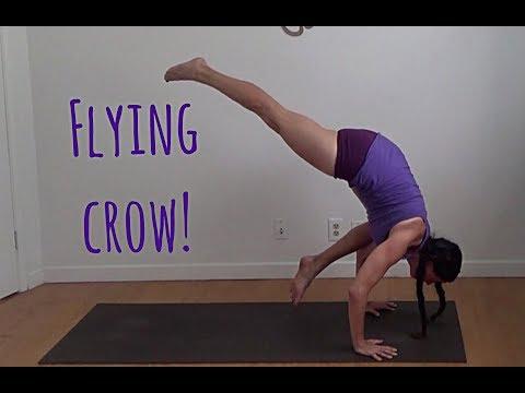 eka pada bakasana flying crow yoga arm balance - shana meyerson YOGAthletica
