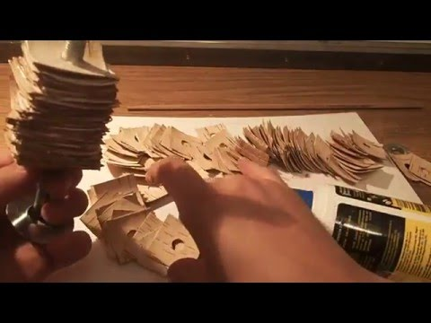 Making of birch bark fly rod hand grip part 2