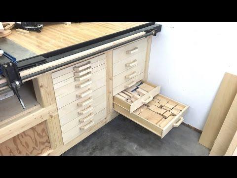 Scrap storage drawers