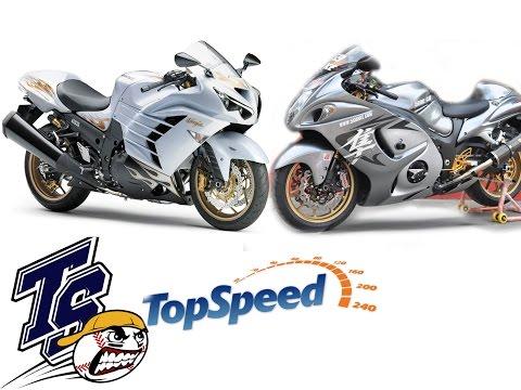 ํTop Speed kawasaki Ninja ZX-14R VS Suzuki Hayabusa Goooo