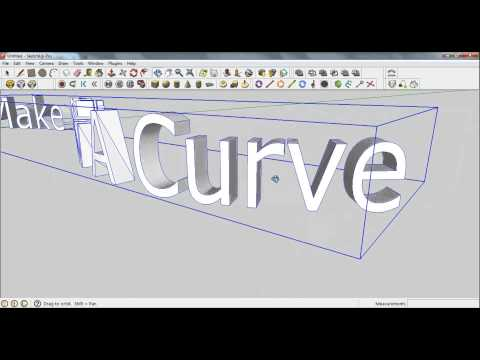 Sketchup Pro 8 - Bending 3D text along a path