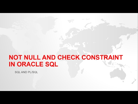 NOT NULL AND CHECK CONSTRAINT IN ORACLE SQL WITH EXAMPLE