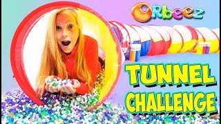 Millions of ORBEEZ FILLED Tunnel Game Challenge!!   Official Orbeez