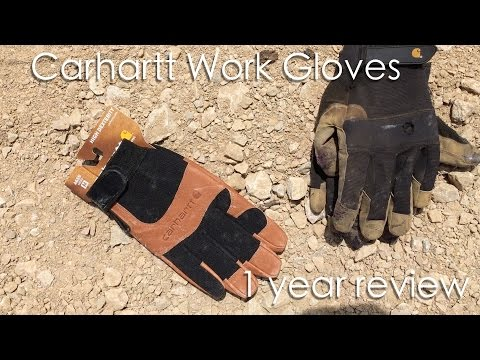 2016 Carhart work gloves. 1-year review