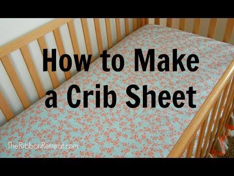 How to Make a Crib Sheet - TheRibbonRetreat.com