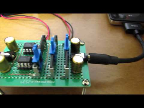 hand-made 3-band audio equalizer