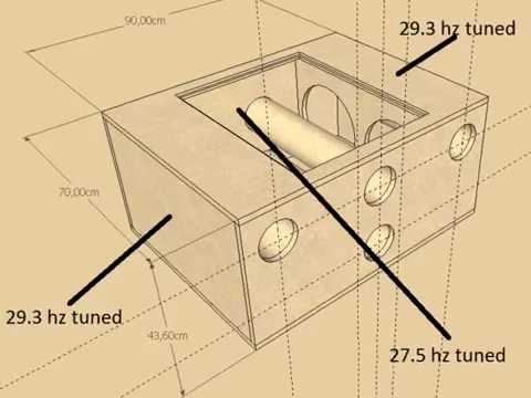 pioneer 4 12s 6th order baspand box design ts-w310d4