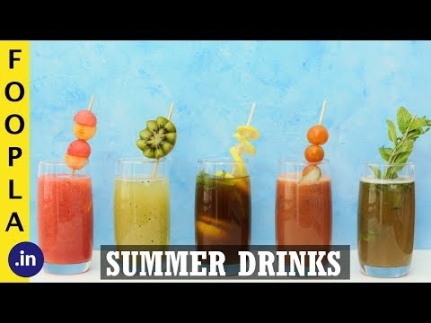 TOP 5 Refreshing Summer Drinks YOU can make in 5 Minutes | Drinks Recipes | Foopla