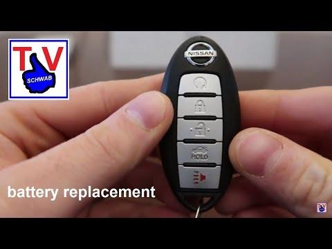 Nissan key fob battery replacement change / Schlüssel Batterie wechseln Batteriewechsel
