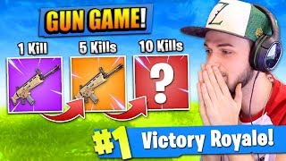 "The ""GUN GAME"" CHALLENGE in Fortnite: Battle Royale!"