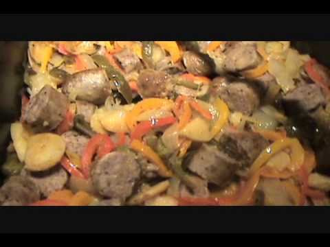 SAUSAGE PEPPERS AND ONIONS WITH POTATOES