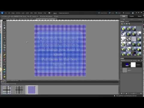 Photoshop Elements Tutorial: How to make a plaid pattern in Photoshop