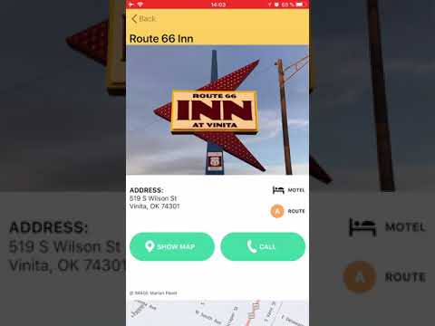 Route 66 Navigation app preview