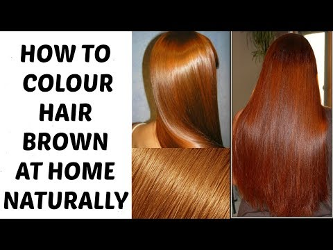 Colour Hair BROWN at Home Naturally | Ramsha Sultan