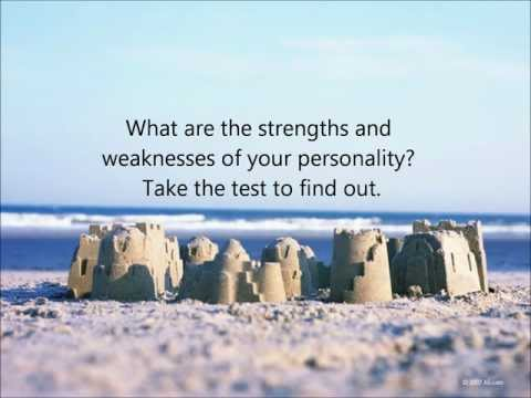 Personality Test. Find strengths and weaknesses of your personality