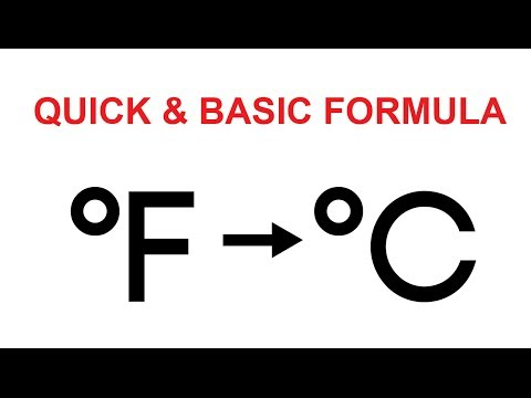 Video Tutorial : How to convert fahrenheit to celsius easily