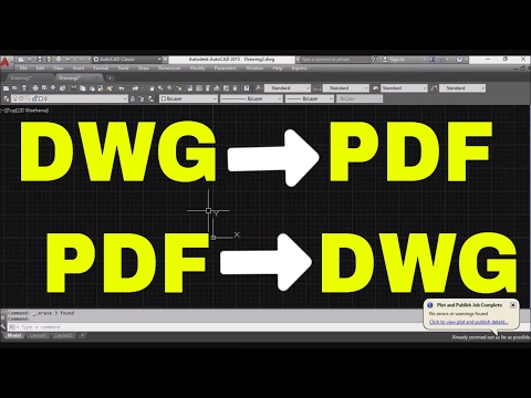 How To Convert Autocad to PDF - DWG to PDF - PDF Tracing dwg file Youtube Autocad Training Classes