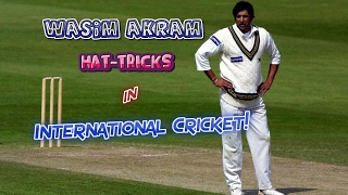 All Wasim Akram Hat-Tricks in Cricket | SULTAN OF SWING...KING OF YORKERS!!