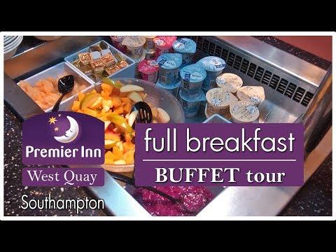 Full Breakfast Buffet Premier Inn West Quay Southampton | DJI camera