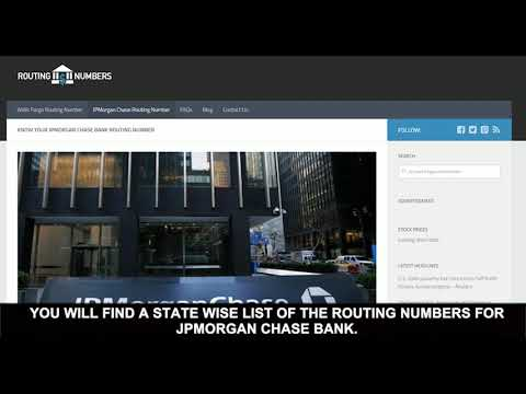 How to find the JPMorgan Chase Bank Routing Number?