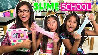 Making Slime For School - She Can STEM : So Chatty // GEM Sisters