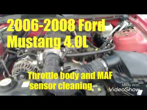 2006 to 2008 Ford Mustang throttle body & MAF sensor cleaning